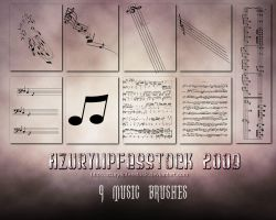 Brushes2009- musicpart 2 by AzurylipfesStock