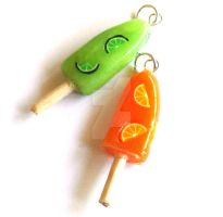 Citrus Popsicle Charm by FatallyFeminine