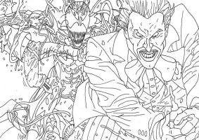 Carnage and Joker Lines by GRIDALIEN