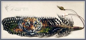 Feather Paint - Tiger by areot