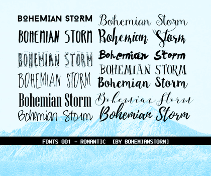 PACK FONTS O1  - Romantic by BohemianStorm