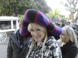 Frollo Hat in Line For Haunted Mansion by ChristineFrollophile