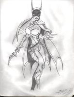 My Batgirl suit design by kanefinger1939