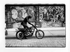 triumph motorcycle - NYC 2003 by DiomedesII