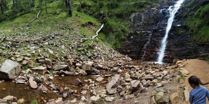Silverband Falls. GRAMPIANS 1 by Allexaire