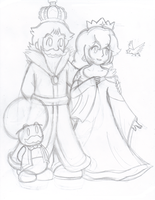 Peachy parents by Nintendrawer