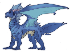 Blue Dragon by IzaPug