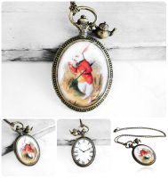 Handmade Resin Alice in Wonderland Necklace by crystaland