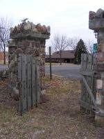Stone fence Wooden gate 2 by OsorrisStock