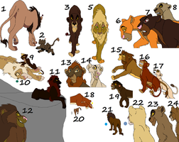 lion adoptables 10 by wolvesanddogs23