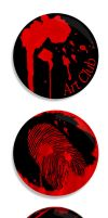 Art Badge Concepts Red Scheme by GeddonDusk