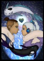 Sokka Yue Love colored by Fallonkyra