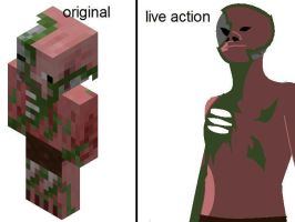minecraft pigman zombie by KenDragoon25