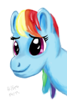 Another Small Rainbow Dash Drawing by caffeinejunkie