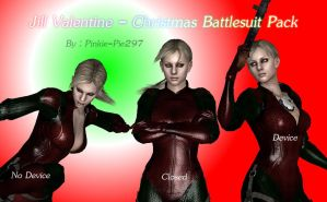 Jill Valentine - Christmas Battlesuit Pack by Pinkie-Pie297