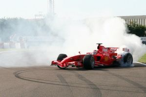 Raikkonen burnout by arthobald