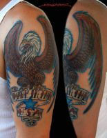 Made in the USA Tattoo Eagle by MuddyGreen
