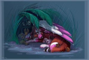 Shelter from the Storm by Artsywolven