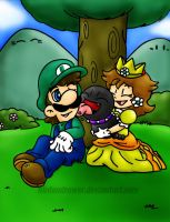 you,me and the pup XD by Nintendrawer