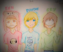 Ken PewDiePie and Cryaotic by AnimeMangaArtist0101