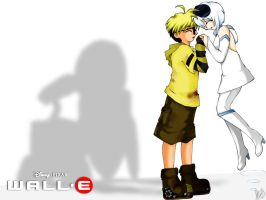 Wallpaper: WALL-E + EVE by anime-dragon-tamer