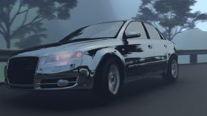 Audi A4 on the way by Hiddenus