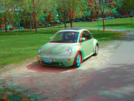 Another New Beetle in 3D by LittleBigDave