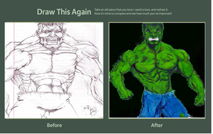 Contest Subission for Draw this Again: The Hulk by danlewis4475