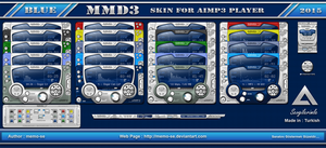 MMD3 Blue Skin For Aimp3 Player by memo-se