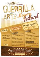 Guerrilla Arts Festival Poster by grapple-media