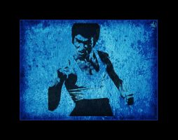 the mighty bruce lee by Artby2Heads