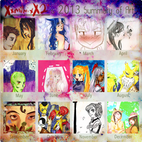Mimi's 2013 Art Summary by XxmimixX2