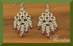 Chainmaille Earrings by skezzcrom