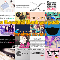 a thousand thank you pack: timeline cover by iheartpink-rachel