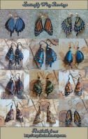 Leather Butterfly Wing Earrings 4-17-2012 by Angelic-Artisan