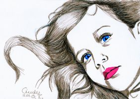 Fineliner Girl by Cindy-R
