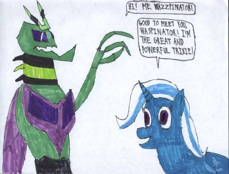 Waspinator With Trixie Lulamoon by HazardFire715