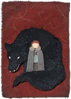rickon and shaggydog by nawafiai