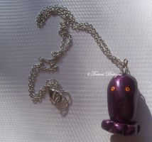 Dark ChuChu Pendant Necklace Wind Waker Zelda OOAK by TorresDesigns
