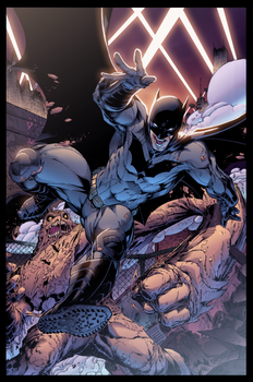 Batman VS Clayface by Furlani