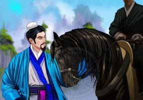 Sacrificing his horse for his lord by Raro666