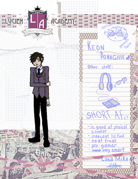 Keon Donaghue | LucienAcademy Student Application by CEE-KAIart