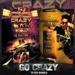 PSD Go Crazy Flyer Bundle - 2in1 by retinathemes