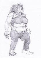 Orc female (study for a RPG) by GarmrKiDar