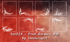 Set 024 - Pixel Borders 016 by wolfgrrlone