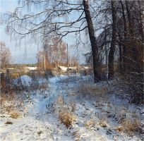 winter Russian morning by VAMPIdor