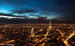 Paris at night by Alp-design