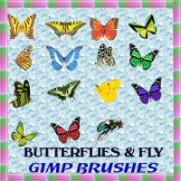 14 BUTTERFLY GIMP BRUSHES by Aim4Beauty
