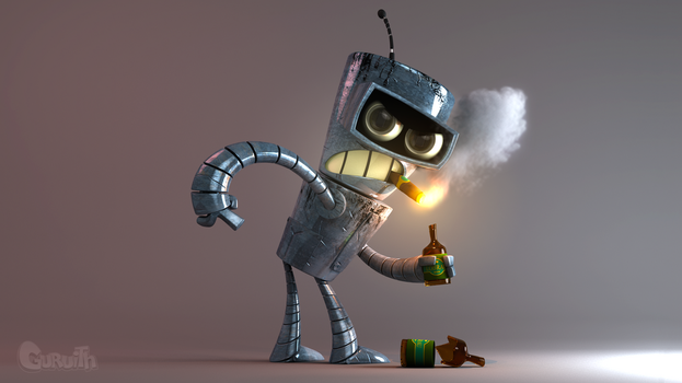 Bender From Futurama by Guruith