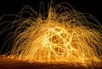 Steel Wool spark shower by Michael-Holmes